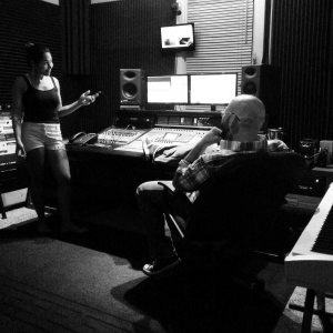 "Nikki Jean & Zechariah Wise between takes while recording the ""Champagne Water"" EP"